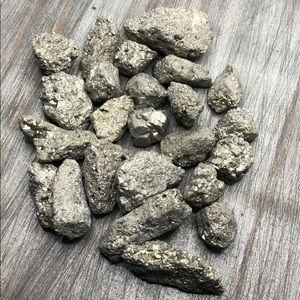 Pyrite crystal protection meditation raw stone set